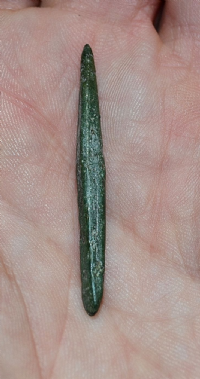 A small but pleasant Bronze age leather workers awl, Cambridgeshire.